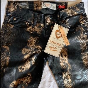 "Boohoo ""Snakeskin"" Jeans: 2 Sizes Available"